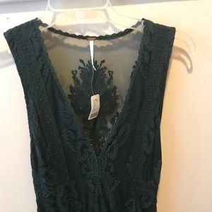 Free People Green Lacy dress
